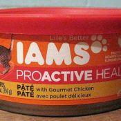 Bean dip lid on cat food can