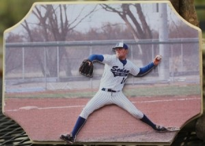 Photo Cutout of Baseball Pitcher