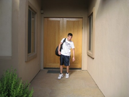 Young Man Headed out for the Last Day of School