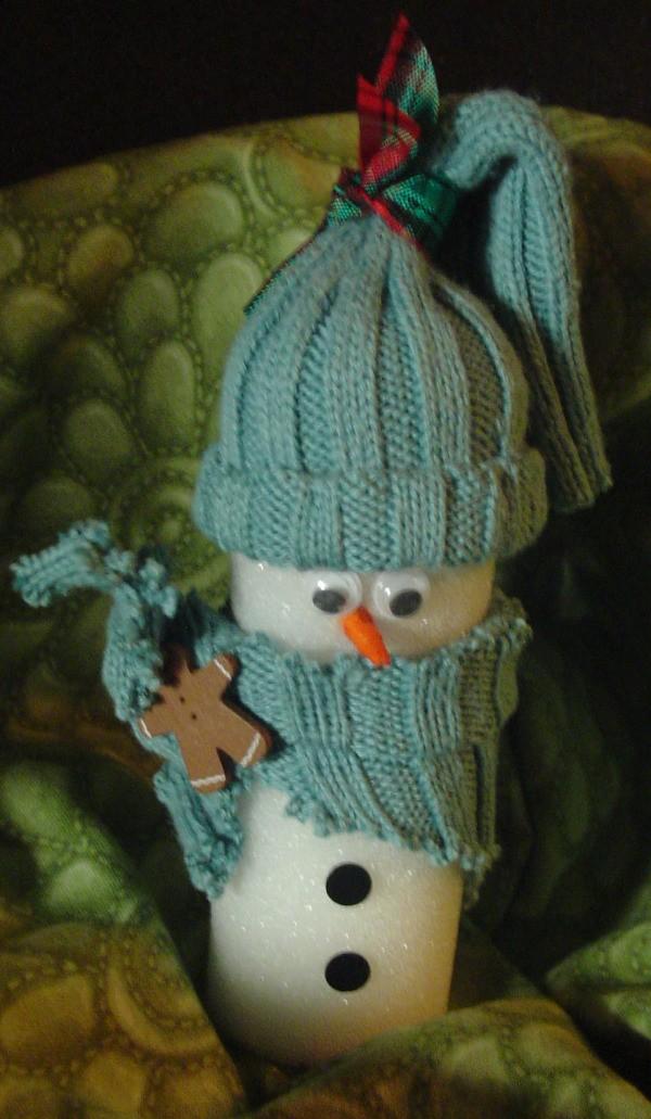 Paint Roller Snowman 1