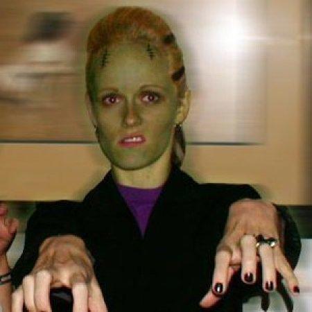 Woman Dressed as Frankenstein