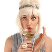 Flapper Woman With Martini