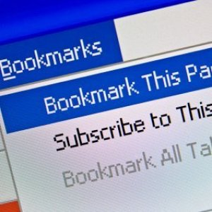 Organizing Your Web Browser's Bookmarks, Bookmark menu on a computer.