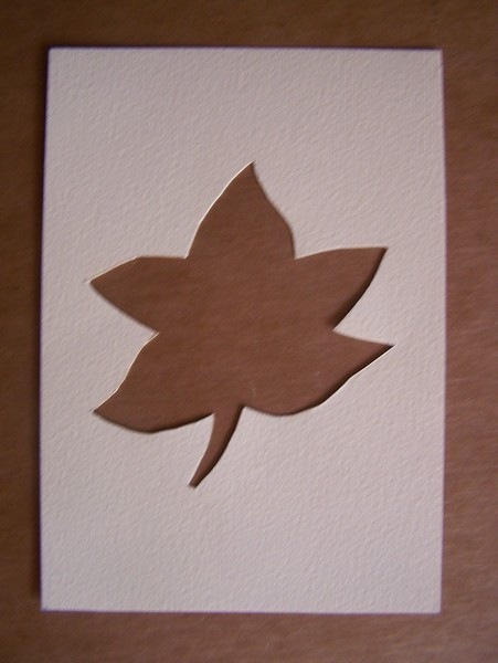 Leaf stenciled oout of paper.