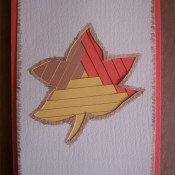 The finished Fall leaf card.