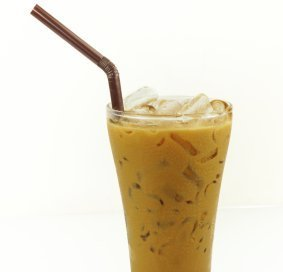 Photo of a cup of iced coffee.