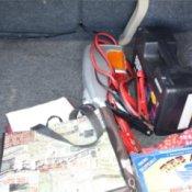 Organized Items in a Car Trunk