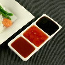A trio of savory Asian sauces.