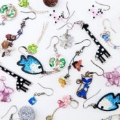 Many Pairs of Earrings Spread out