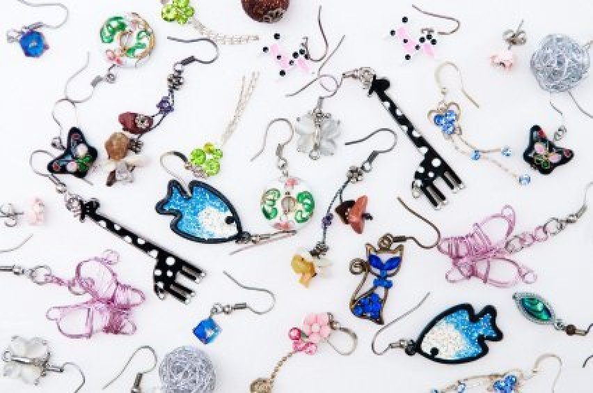 b26ffe7b5 Many Pairs of Earrings Spread out