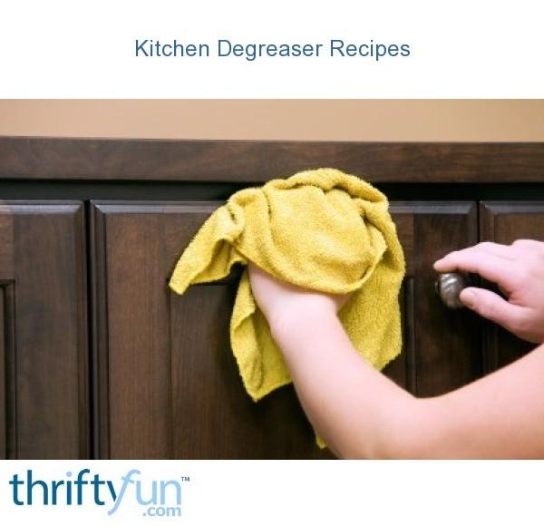 homemade kitchen degreaser recipes thriftyfun rh thriftyfun com