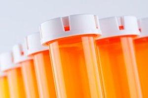 Recycling Prescription Bottles, Prescription Bottles on White Background