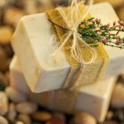 Neatly Wrapped Homemade Soap