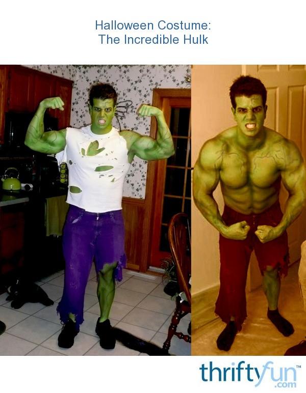 making an incredible hulk costume thriftyfun