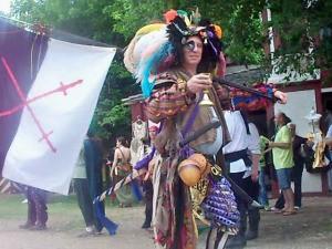 Man Dressed as Renaissance Pirate
