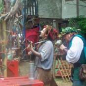 Men Playing Music Together at Renaissance Fair