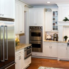 White Painted Kitchen Cabinets.