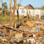 Houses Wrecked by Tornado
