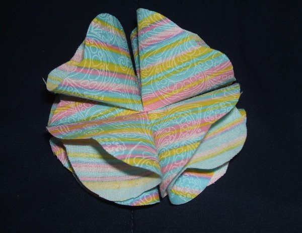Fabric Flower Pin Step 4