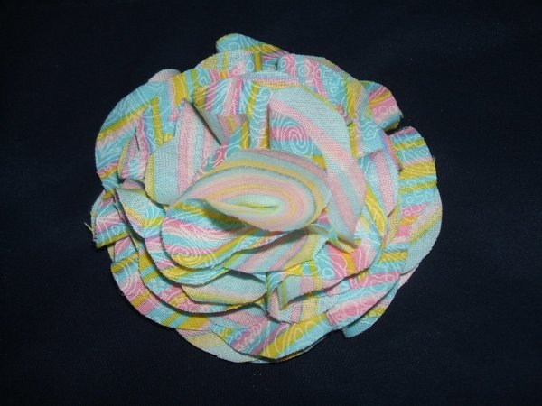 Fabric Flower Pin Step 6