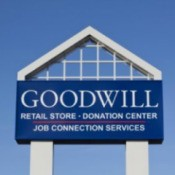 Large Outdoor Blue Goodwill Sign