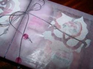 Gift wrapped in decorated wax paper.