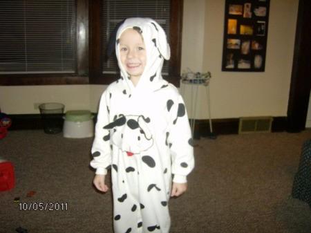 Boy in Dalmatian Costume