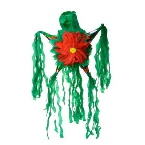 Making a Piñata, Red and Green Pinata