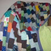 Photo of a post card quilt.