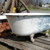 An old clawfoot tub.