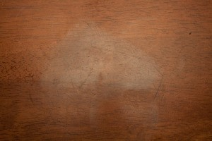 White Heat Stain on Wood Table