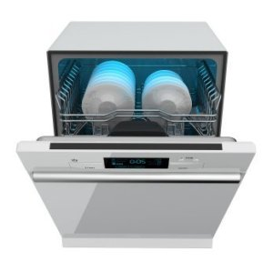 New Open Dishwasher