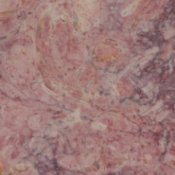 Closeup of pink marble slab.