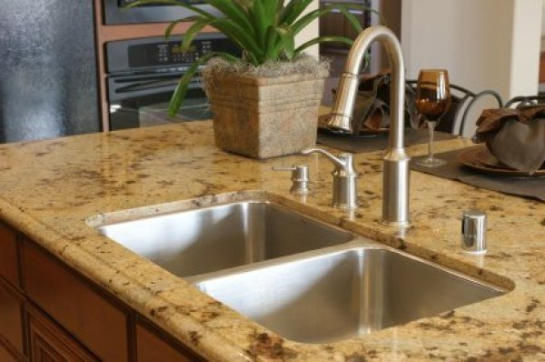 Merveilleux Removing Stains From Granite, Granite Kitchen Counter And Stainless Sink