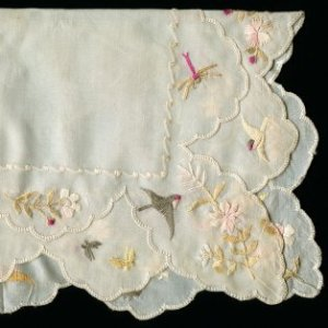 Embroidered vintage handkerchief.