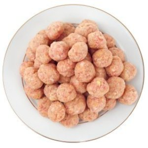 Plate of meatballs.