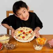 Homemade Pizza Recipes, Boy Holding Homemade Pizza