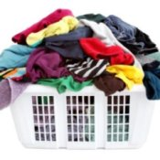 Laundry Tips and Tricks, Dirty Laundry in a White Basket