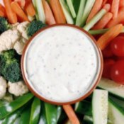 Homemade ranch dressing.