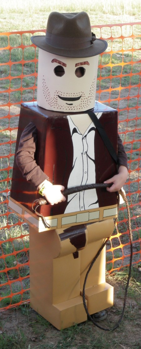 Boy Dressed as Lego Indiana Jones