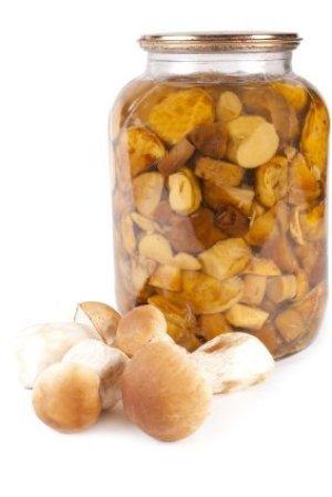 Large Jar of Canned Mushrooms