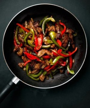 Skillet With Fajitas