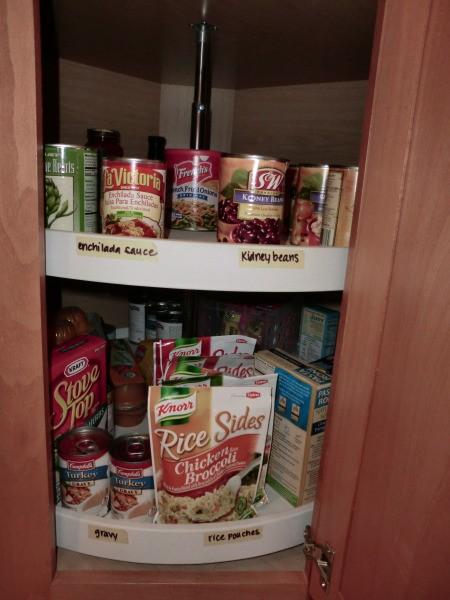 Organizing a Lazy Susan Cabinet