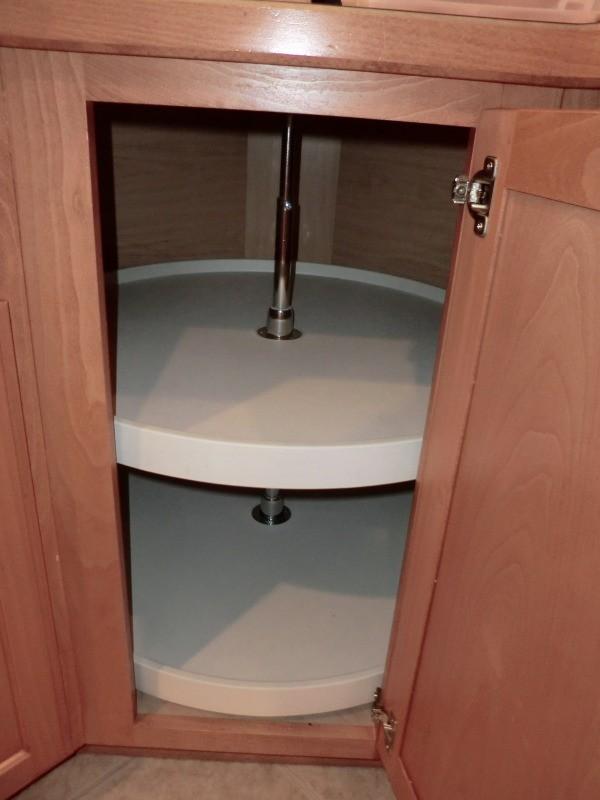 Empty cabinet.