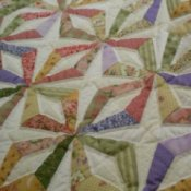 Paper pieced quilt top, endless chains pattern.