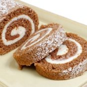 Pumpkin roll cake.