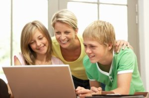 Homeschooling Tips, Mother Homeschooling her Two Teenage Children