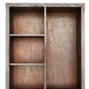 Wooden bookshelf.