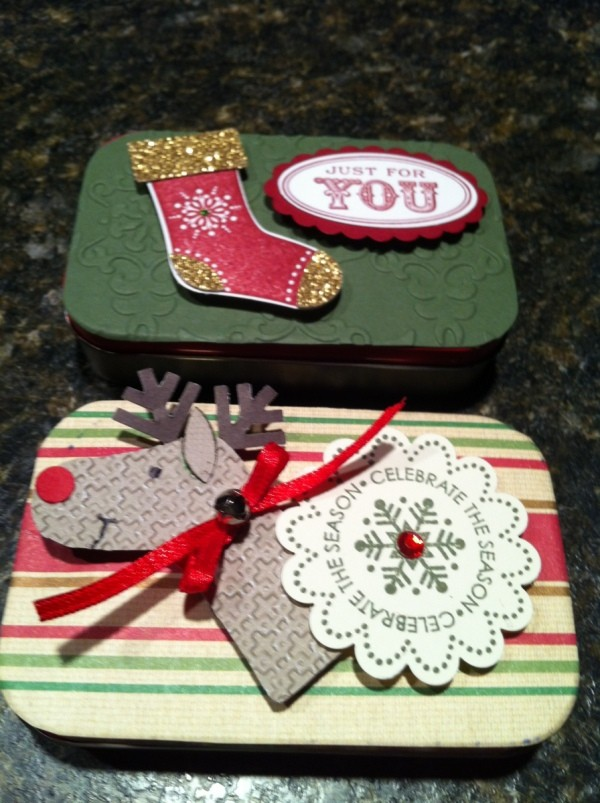 Holiday Themed Gift Card Boxes
