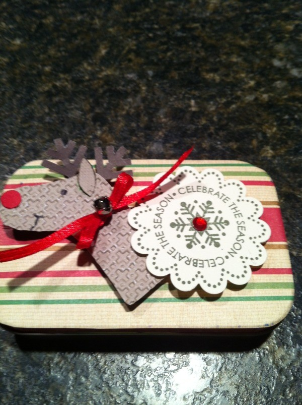 Reindeer Gift Card Box